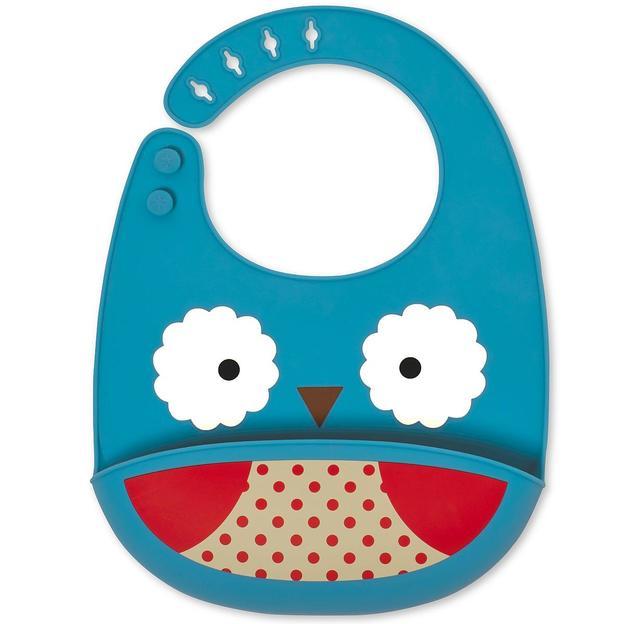 Bavoir en silicone pour bébé – Hibou