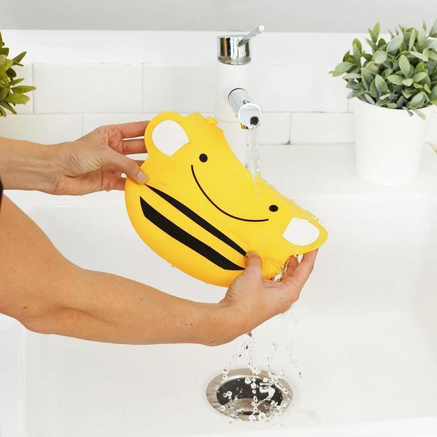 Babylatz aus Silikon Biene