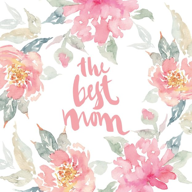 Carte de vœux Best Mom