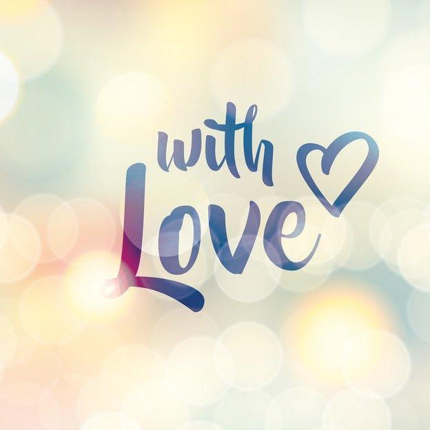 Carte de vœux With Love