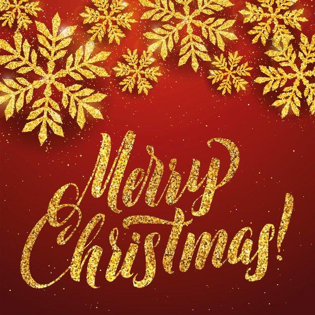 Carte de vœux Merry Christmas