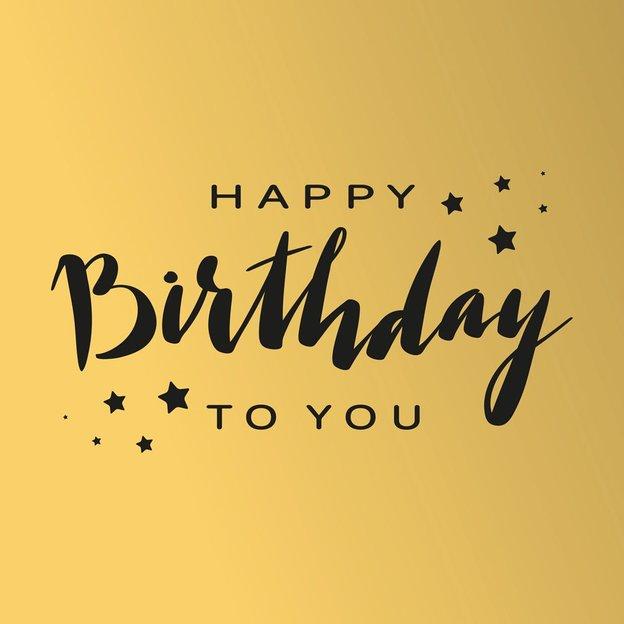 Grusskarte Happy Birthday To You