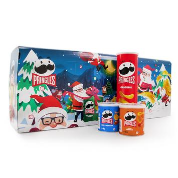 Lustige Weihnachtsgeschenke.Adventskalender Pringles