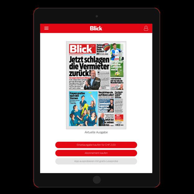 Blick E-Paper Abonnement 1/2-Jahresabo