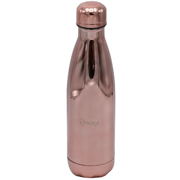 Personalisierbare Trinkflasche Chilly's Bottle, Chrom Rose Gold 500ml