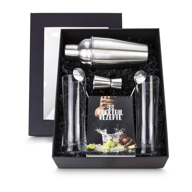 Cocktailbox mit personalisierbarem Cocktailshaker