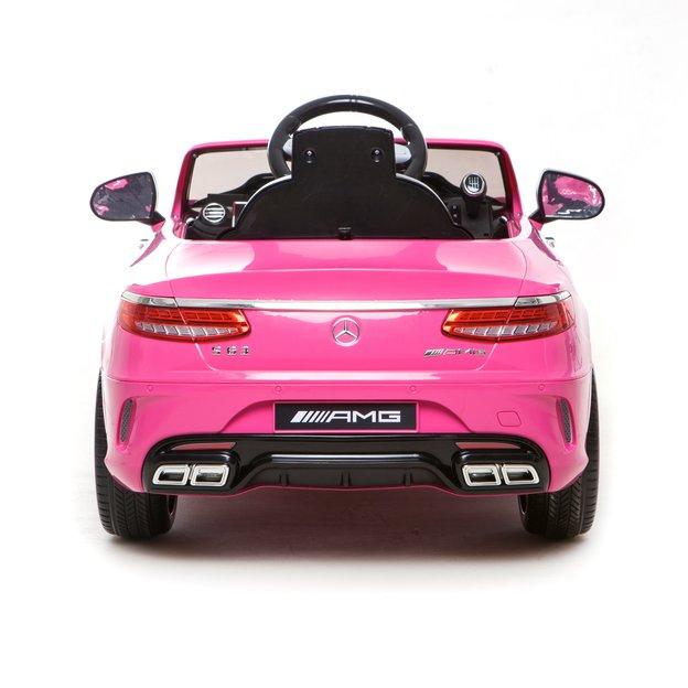 Voiture électrique pour enfant Mercedes S63 12V pink