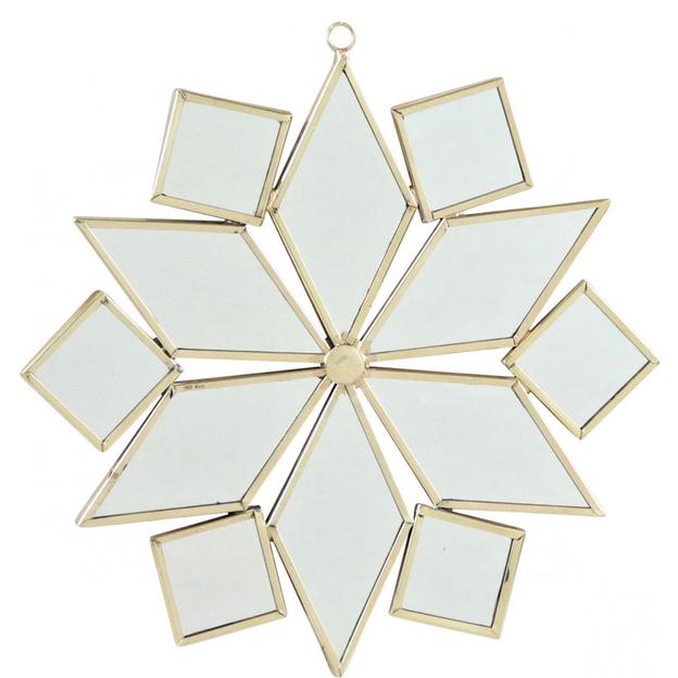 Miroir Etoile des neiges rectangle - grand