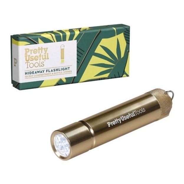 Lampe de poche avec compartiment secret et décapsuleur