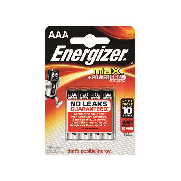 Batterien Energizer Max AAA / 4er Blister 1,5 V