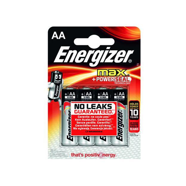 Batterien Energizer Max AA / 4er Blister 1,5V