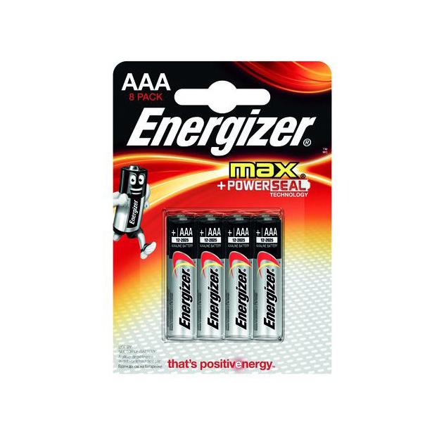 Batterien Energizer Max AAA / 8er Maxiblister 1.5V