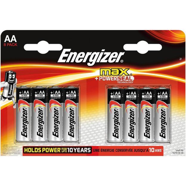 Piles Energizer Max AA 1.5V, set de 8