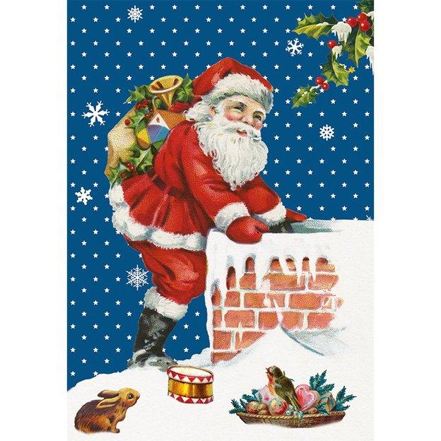 Carte de vœux Père Noël classique