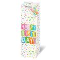 Sac cadeau pour bouteille «Happy Birthday»