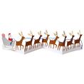 Carte de vœux Le père Noël et ses rennes