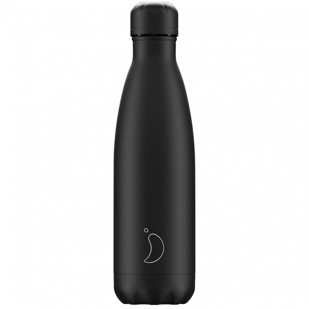 Bouteille Chilly's Bottles, Black Monochrome, 500 ml
