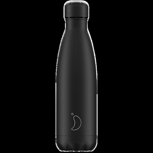 Chilly's Bottles Monochrome Black, Trinkflasche 500ml