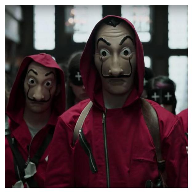 Salvador Dali Maske - Serie Haus des Geldes