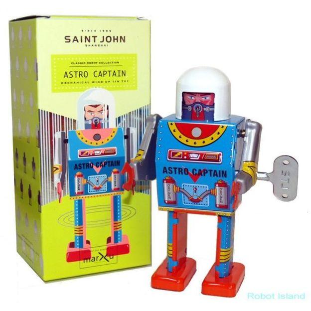 Robot à remontage mécanique rétro Astro Captain