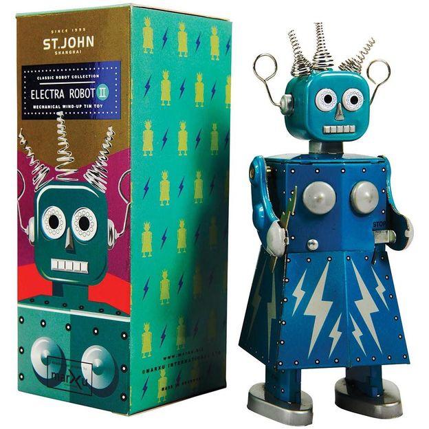 Retro Aufziehroboter Electra Robot I Geschenkidee Ch