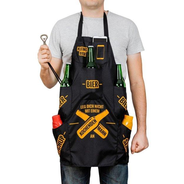 Grillschürze mit Taschen und Flaschenöffner
