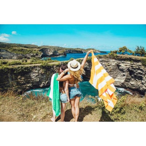 Serviette de plage Cancun Green, séchage rapide, 160 x 80 cm