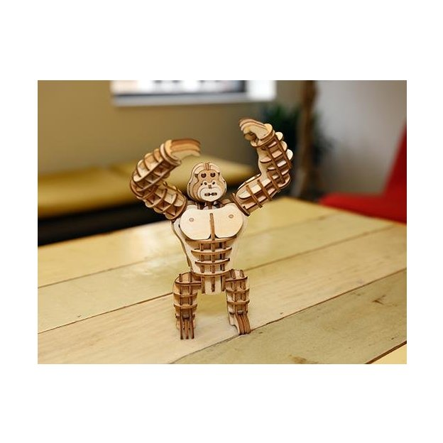 Holzpuzzle Gorilla 3D