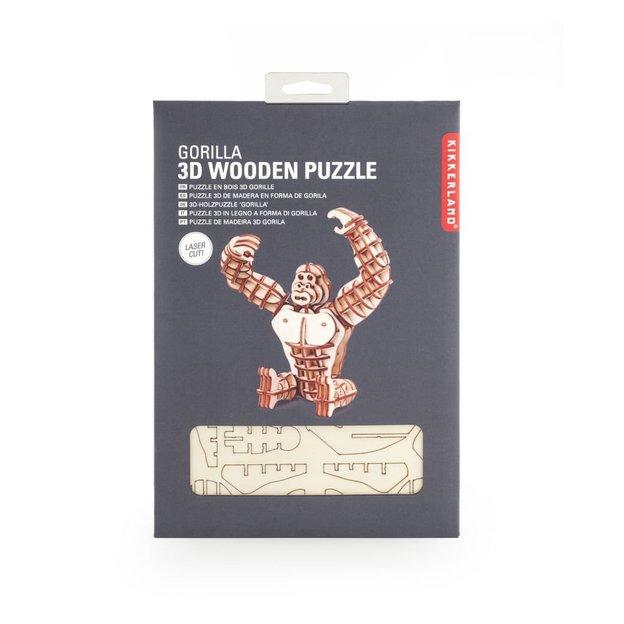 Cube puzzle en bois Gorille