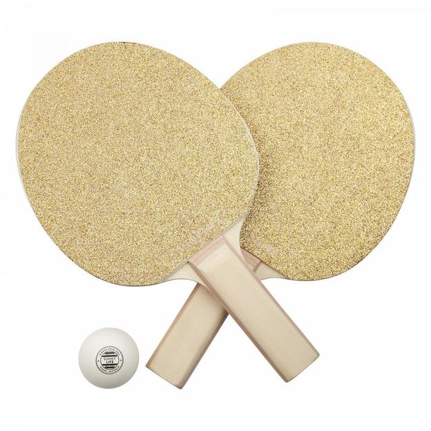 Set de tennis de table pour la maison Sunnylife or
