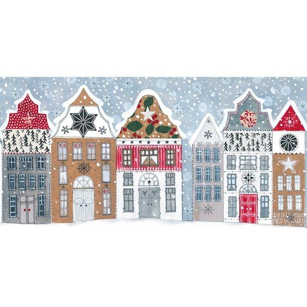 Carte de Noël XXL Village enneigé