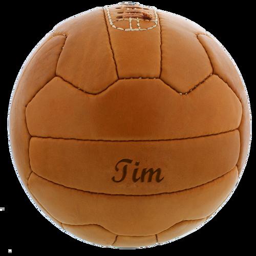 Image of Personalisierbarer Retro Lederfussball
