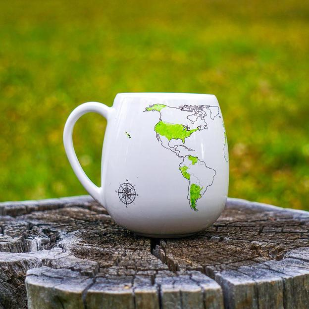 Mug World Map avec feutre à personnaliser