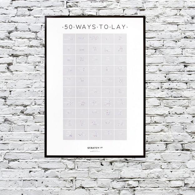 Scratch Poster 50 Kamasutra Stellungen