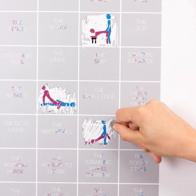 Scratch Poster Kamasutra 50 positions