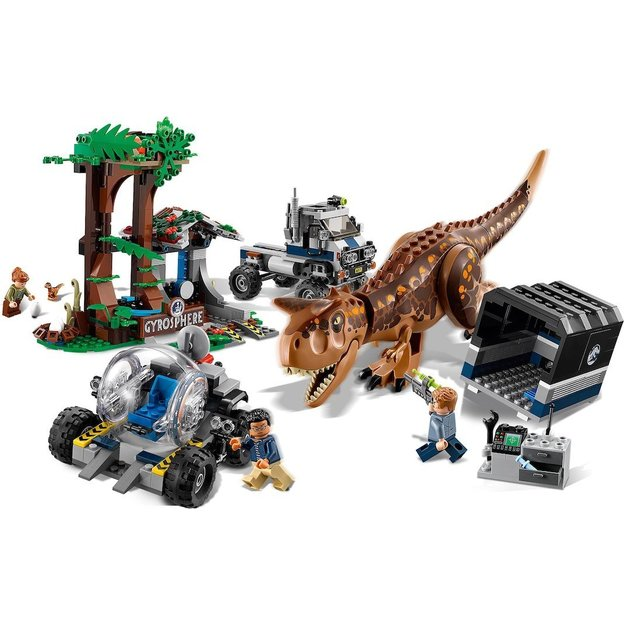 La Lego Le En Gyrosphère Jurassic World Carnotaurus Fuite Et H2EDYI9W