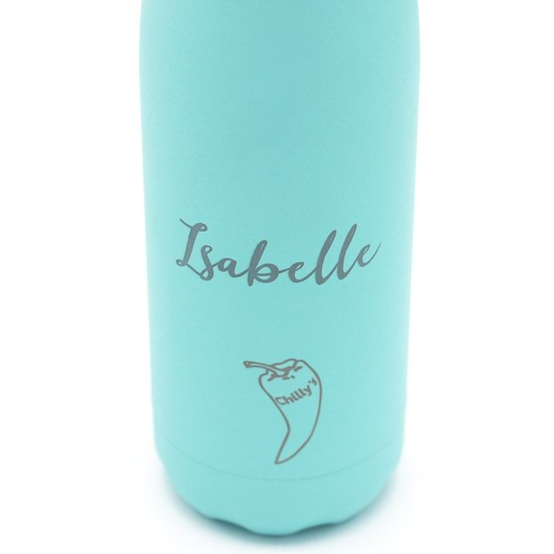 Chilly's Bottle personnalisée, vert pastel, 500 ml