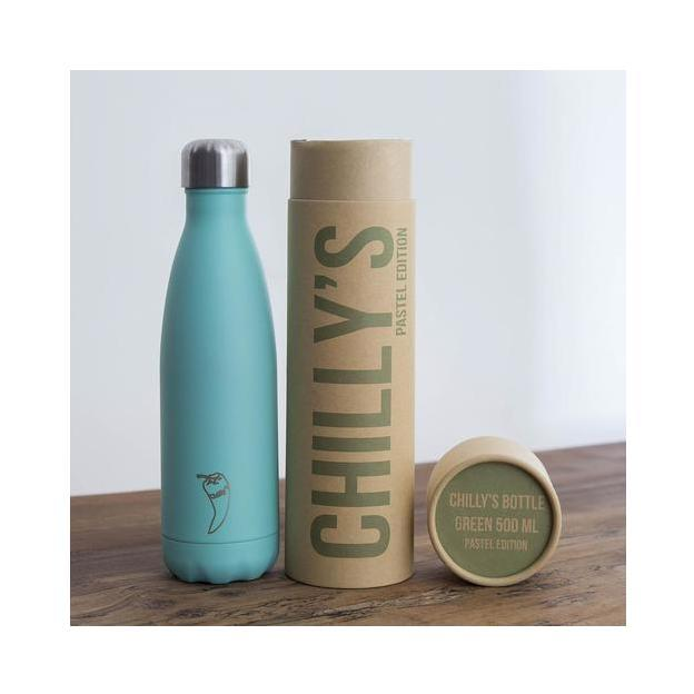 Personalisierbare Chilly's Bottles, Trinkflasche Grün Pastell Standard 500ml