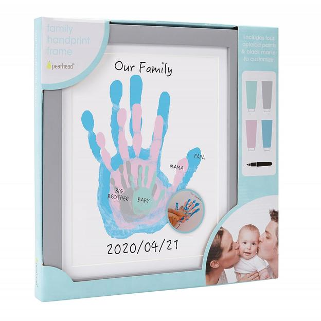 Cadre Empreintes de mains de toute la famille