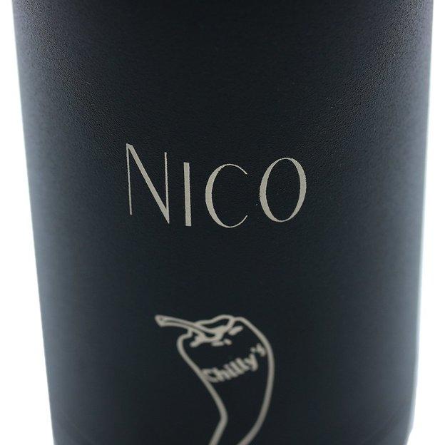 Bouteille Chilly's Bottles personnalisée, Black Monochrome, 500 ml