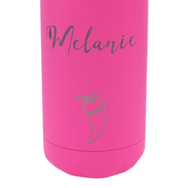 Bouteille Chilly's Bottles personnalisée, Neon Edition, rose néon, 500 ml