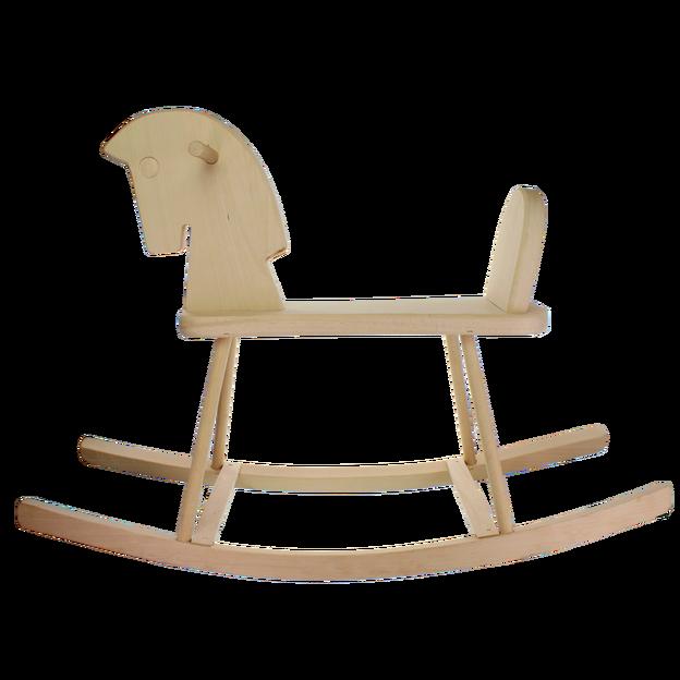 Cheval à bascule personnalisé en bois