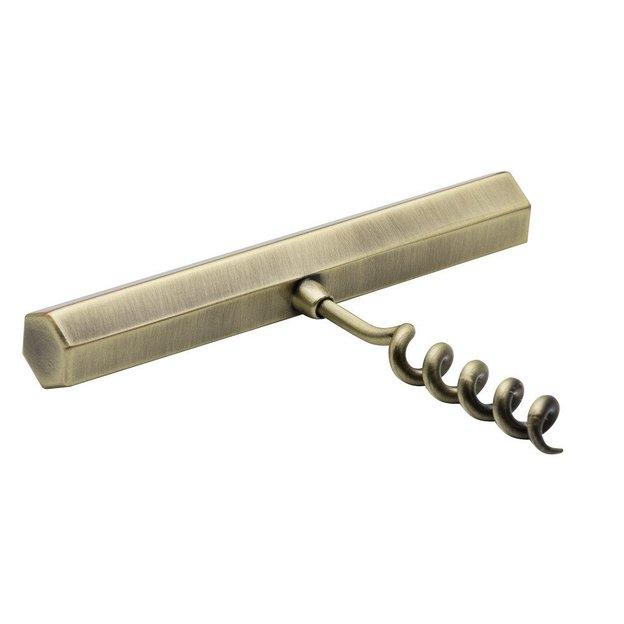 Tire-bouchon en métal doré