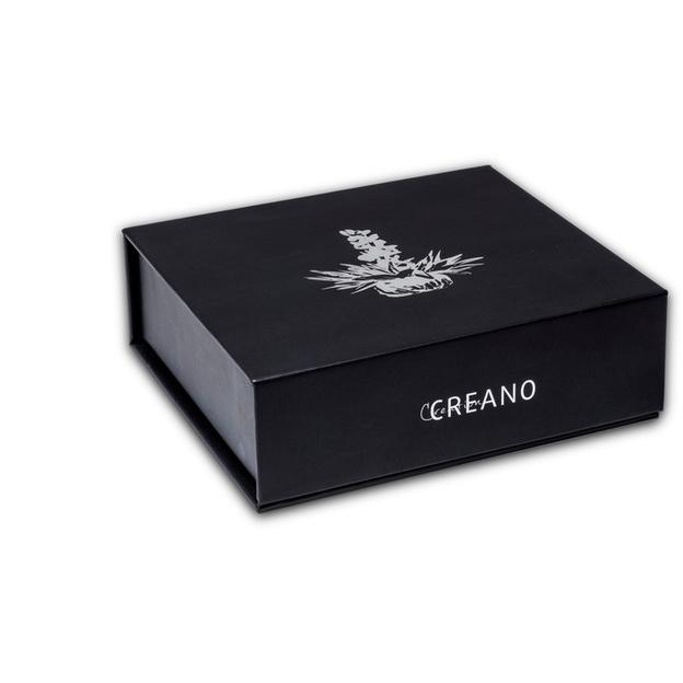 Coffret Creano 6 fleurs de thé noir dans une boîte en métal