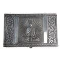 Schmuckbox silber mit Buddha