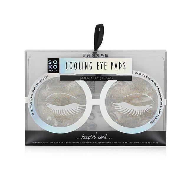 Kühlende Augenpads mit Glitzer