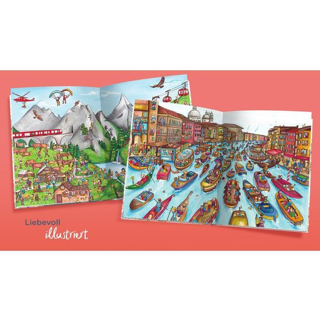 Personalisiertes Kinderbuch - Mein Weltreise-Wimmelbuch