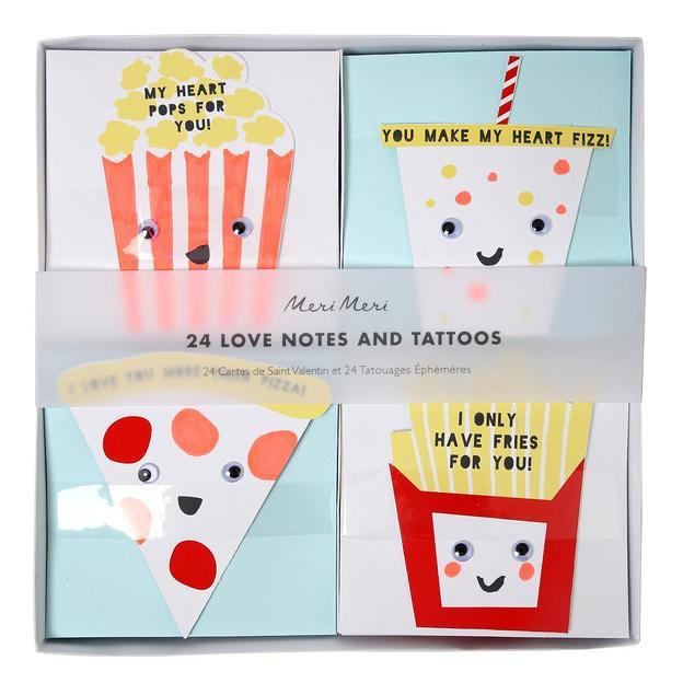 Cartes de vœux Love Notes Fast Food