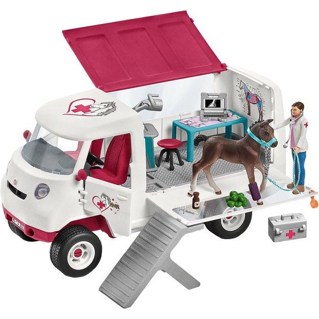 Camionnette de la vétérinaire avec poulain Schleich