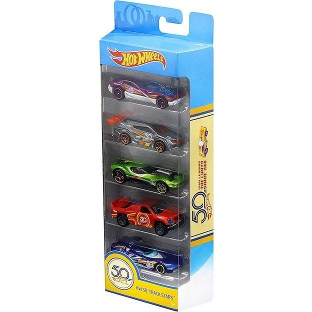 Coffret cadeau Hot Wheels 50e anniversaire, 5 voitures